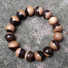 Genuine 14 MM Natural Indonesia Kalimasada Bracelet Kou Wood 16 Beads