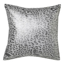 ROXIE SILVER Leopard Square Filled Cushion 41cm x 41cm Ultima Logan & Mason