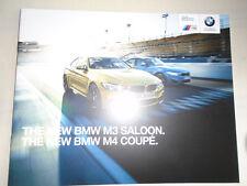 BMW M3 Saloon & M4 Coupe range brochure 2014 ed 1 small brochure