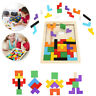 Tetris en bois Building Block Puzzle Montessori préscolaire jouet éducatif ME