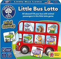 Orchard Toys MINI GAME LITTLE BUS LOTTO Educational Game Puzzle BN
