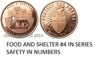 20-1 OZ COPPER COINS *FOOD AND SHELTER* SAFETY IN NUMBERS 2ND AMENDMENT 1-5-100