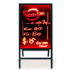 28X20 Flashing Illuminated Menu Sign LED Writing Message Board w/ Stand Remote