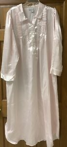 Miss Elaine Women's Long Sleeve Mid-Calf Long Nightgown Pink Size 1X New