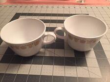 Pyrex Milk Glass Corelle Golden Butterfly Coffee Tea Cup Mug Lot Of 2