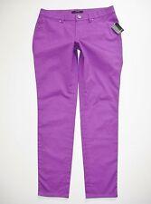 New $168 TAHARI sz 6 Emma Jean Violet Spectrum Womens Pants Stretch Skinny Ankle
