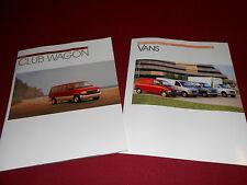 1993 FORD ECONOLINE & AEROSTAR VAN BROCHURE + CLUB WAGON SALES CATALOG, 2 for 1