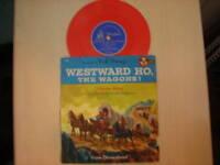 Mickey Mouse Club Disney WESTWARD HO, The Wagons! 78rpm 50s
