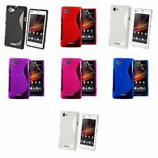 Case For Sony Xperia L S-Line Silicone Gel Skin Tough Shockproof Phone Cover
