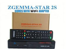 ORIGINAL ZGEMMA STAR 2S SATELLITE RECEIVER TWIN DVB-S2 TUNER ENIGMA WIFI ADAPTER