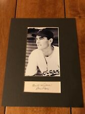 """Don Ross SIGNATURE BROOKLYN DODGERS SIGNED AND MATTED 8X10"""" DISPLAY"""