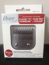 Oster Classic 76 Clipper Detachable Replacement Blades Size 18 Skiptooth