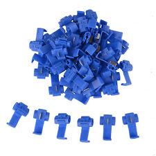 50x Blue Electrical Cable Connectors Fast Quick Splice Lock Wire Terminals Crimp