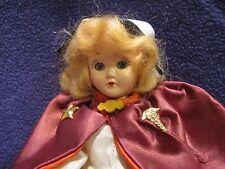 """Vintage 7"""" Virga Nurse Plastic Doll Early Rare Find EUC"""