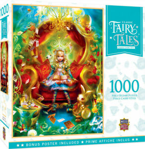 Masterpieces 1000pcs Classic Fairy Tales Alice in Wonderland Tea Party Time Jigs