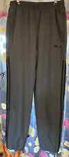Adidas Mens Track Pants LINED Joggers Tracksuit Bottoms Zipper Cuffs Small Grey