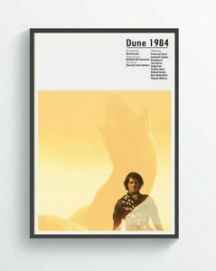 5. Dune Inspired Movie Poster Art A5-A4-A3-A2-A1 or FRAMED OPTION