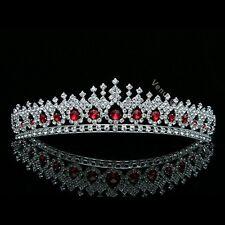 Gorgeous Apple Red Rhinestone Crystal Bridal Wedding Prom Crown Tiara 7561