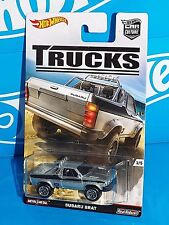 Hot Wheels 2016 Car Culture TRUCKS Series Subaru Brat ZAMAC w/ Real Riders