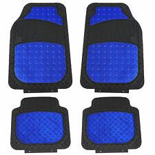 Metallic Rubber Floor Mats For Car Suv Truck Semi Universal Heavy Duty Blue Fits 2012 Toyota Camry
