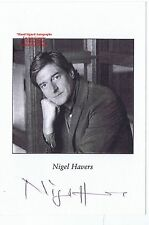 NIGEL HAVERS Actor Chariots of Fire Coronation Street HAND SIGNED B/W PHOTOCARD