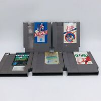 Nintendo Entertainment System Lot Of 5 sports Game Original Carts (NES) tested
