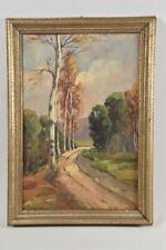 g25c83- Gemälde, Waldweg mit Birken, sign. F.Zeller