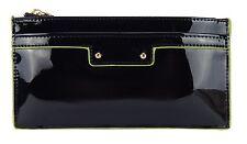 Geldbörse schwarz grün Lack Damengeldbörse kl. Tasche purse black by Ella Jonte