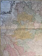 WESTFALEN DORTMUND BREMEN DEUTSCHLAND KOL KUPFERSTICH KARTE HOMANN 1761 #D975S