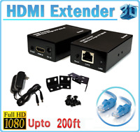 1080P HDMI Network Extender Over Single Cable CAT5E/6 Ethernet RJ45 FHD