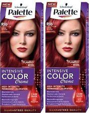 2 x Schwarzkopf Palette Color Creme R16 FLAMING RED Hair Dye + Mask