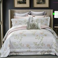 Jacquard Bedding Set Queen King Size Bed Sheet Pillowcase Duvet Cover Bedlinen