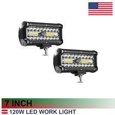 Led Light Bar 7Inch 120W 12000Lm Triple Row Fog Lights Pods Spot Flood 36W yl28