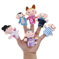 1pc boys girls cartoon family finger puppets soft doll kids educational toys JC