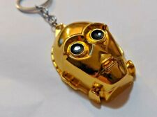 Star Wars Key chain C3Po Figurine Gold convention series 3d Cosplay collectible