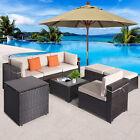 8pc Outdoor Patio Pe Rattan Wicker Furniture Sets Sectional Sofa Poolside Garden