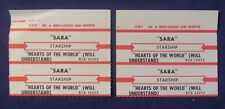 Lot of 4 Jukebox Tags 45 Rpm Title Strips Starship