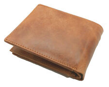 RFID Blocking Tan Handcrafted Cowhide Leather Men's Bifold Premium Wallet