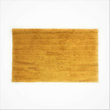"""Everyday 100% Cotton Orche Gold thick Striped Bathroom Shower Mat 24"""" x 15"""""""
