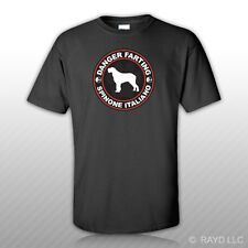 Danger Farting Spinone Italiano T-Shirt Tee Shirt Free Sticker dog canine pet