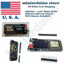 "NODEMCU Wifi ESP8266 ESP-12F Wemos Development Board + 0.96"" White OLED CP2102"
