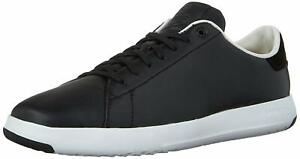 Mens Cole Haan  Grandpro Tennis Oxford - Black Leather, Size 15W [C22583]