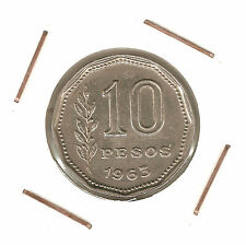 Argentina: 10 Pesos 1963 XF