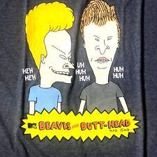 Beavis And Butt-Head MTV HEH HEH-UH HUH HUH-HUH Mens XL Short Sleeve Shirt New