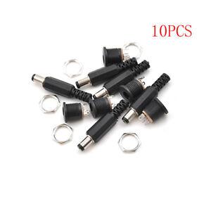 10X Female Plug Jack+Male Plug Jack Socket Adapter Connector 5.5*2.5 mm DC02R.xm