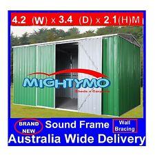 Garden Shed 4.2x3.4M, Storage Shed, Garage Shed, Steel Sheds