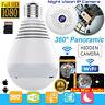 360°HD Wifi Bulb Hidden IP Camera Panoramic Security Cam Light LED Bulb