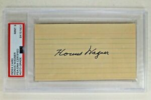 Honus Wagner (d.1955) HOF Autographed Signed 3x5 Index Card Pirates JSA PSA 9