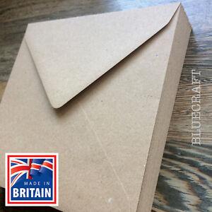 250 pack x Vintage Recycled Fleck Kraft Wedding 155mm Square 100gsm Envelopes