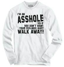 Dont Want Feelings Hurt Walk Away Funny Rude Long Sleeve Tshirt Tee for Adults
